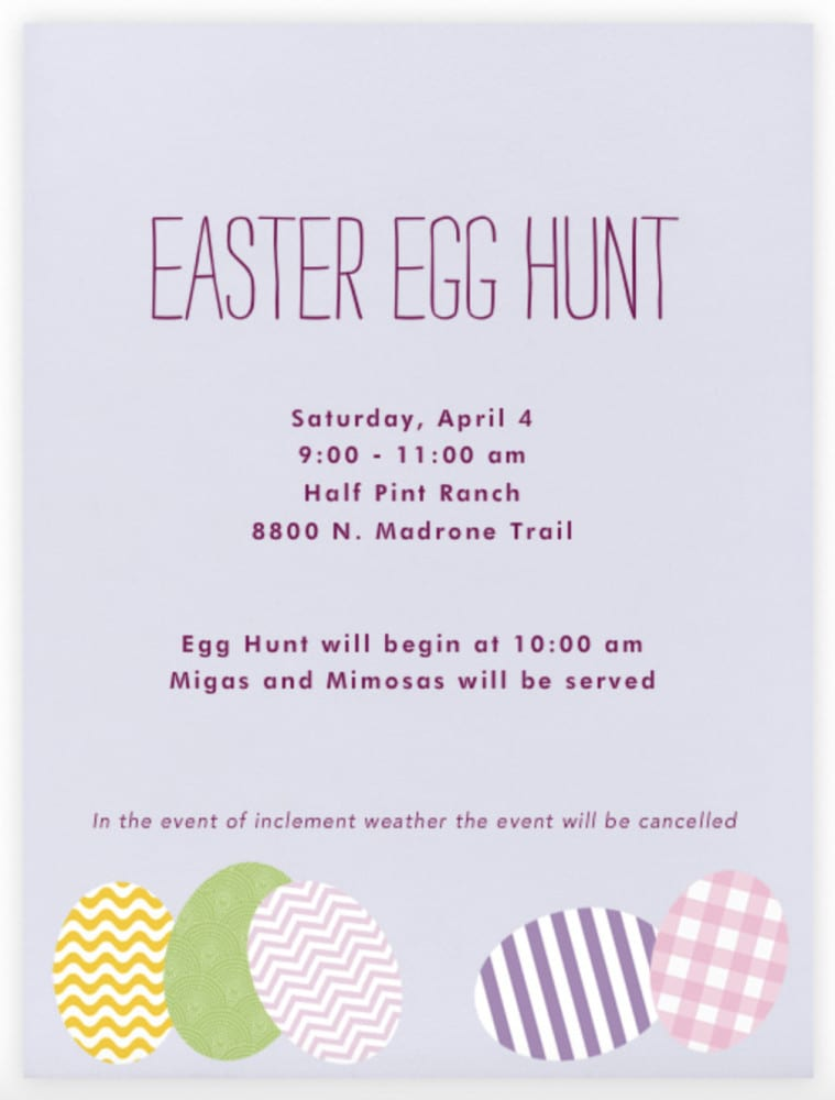 Easter Egg Hunt 04/04/15