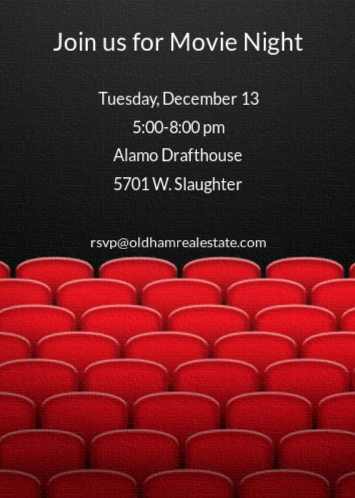 VIP Movie Night 12/13/16 @Alamo Slaughter